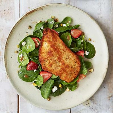 Paillard over Spinach Salad