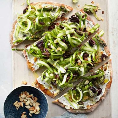 Asparagus-Goat Cheese Flatbread