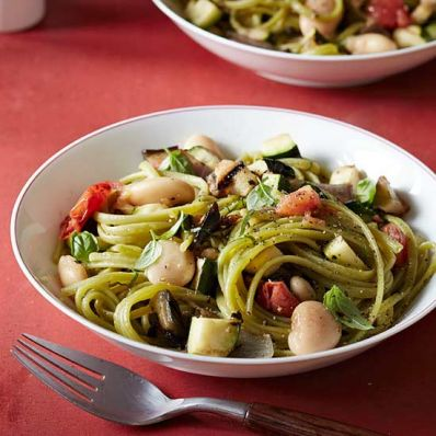 Fire-Roasted Ratatouille with Linguine