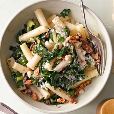 Ziti with Swiss Chard and Walnuts