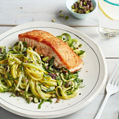 Salmon and Squash Noodles