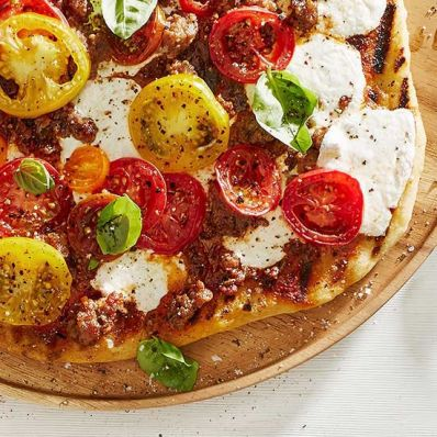 Sausage and Tomato Pizza