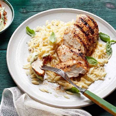 Chicken with Basil-Tomato Aioli