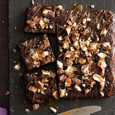 Stuffed Chocolate-Caramel Brownies