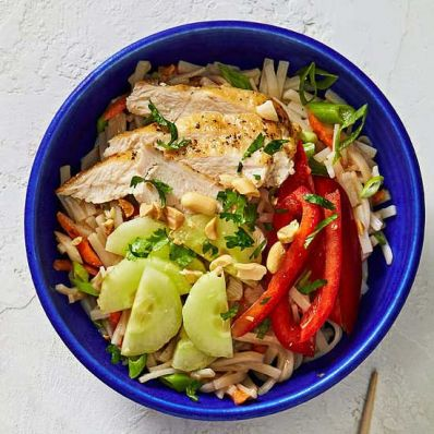 Thai Rice Noodle Bowl
