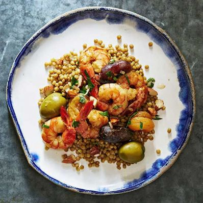 Moroccan Shrimp and Couscous