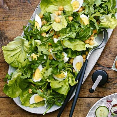 Bibb and Arugula Salad with Eggs