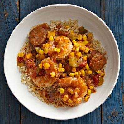 Creole Sausage and Shrimp