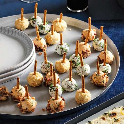 Kalamata Olive and Dill Cheese Balls