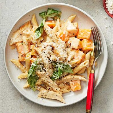 Penne with Chicken and Squash