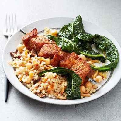 Skewered Moroccan Salmon with Couscous