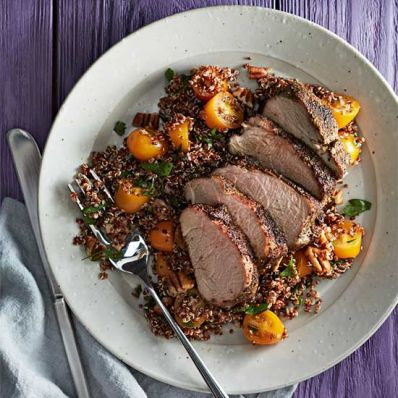 Spice-Rubbed Pork with Quinoa