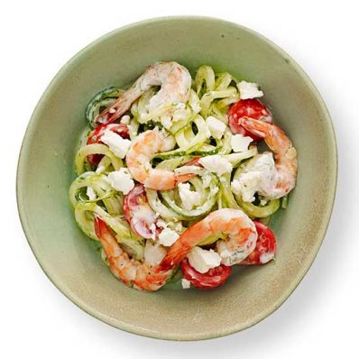 Cucumber and Shrimp Salad Veggie Noodles