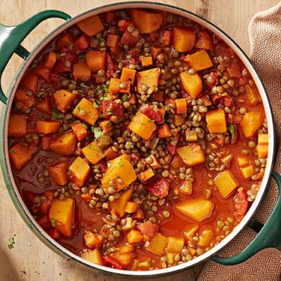 Squash and Lentil Stew