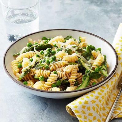 Spring Vegetable Pasta with Lemon and Parmesan