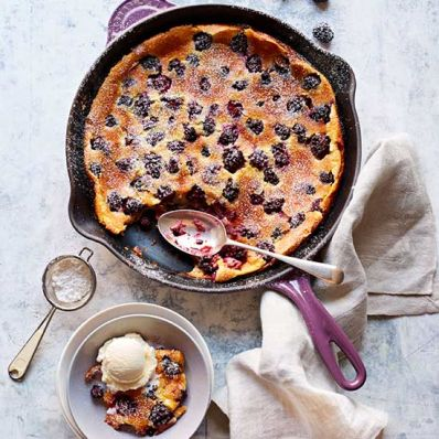 Blackberry Skillet Custard Pie