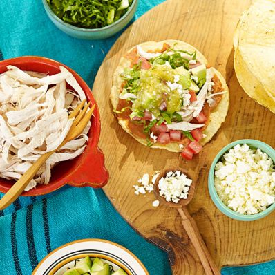 Traditional Chicken Tostadas
