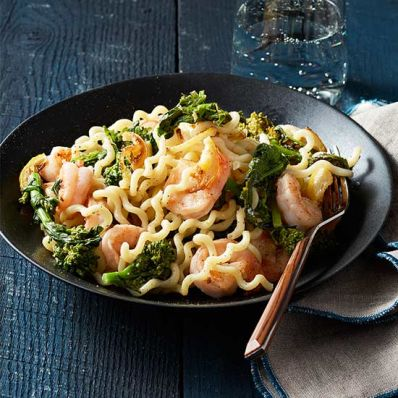Shrimp and Broccoli Rabe Fusilli