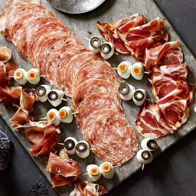 Salumi and Eyeball Platter