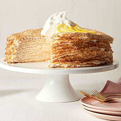 Layered Lemon Crepe Cake