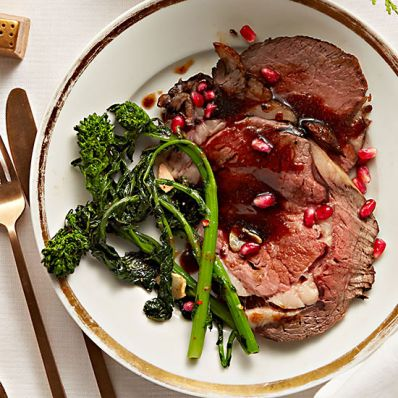 Pomegranate-Glazed Prime Rib