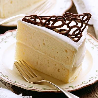 White Cake With Triangular Twirl