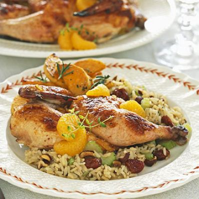 Orange Cornish Hens