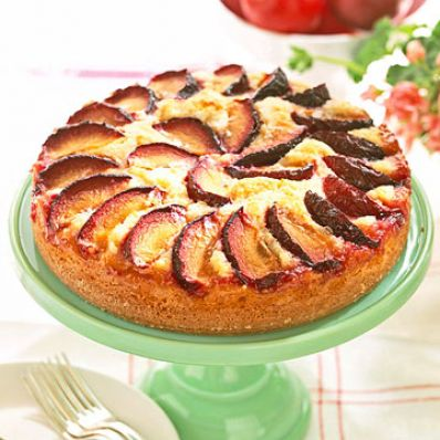 Almond-Plum Coffee Cake