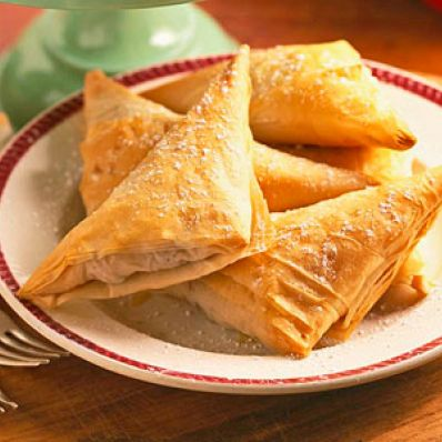 Apple Raisin Nut Triangles
