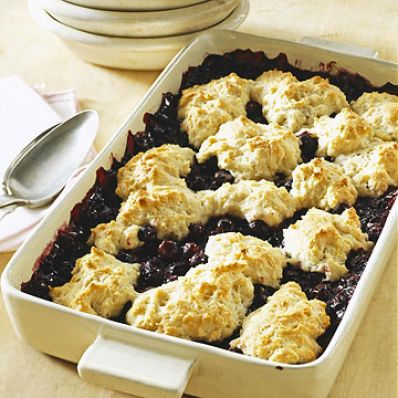 Lemon-Blueberry Cobbler