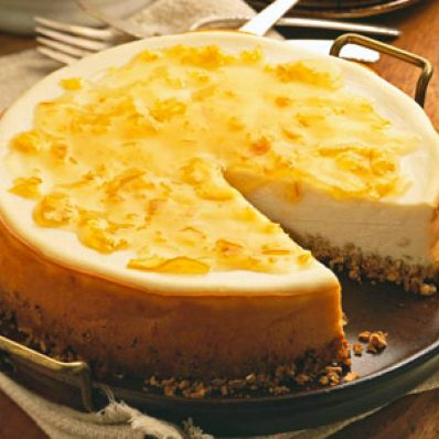 Lemon Cheesecake with Orange Glaze