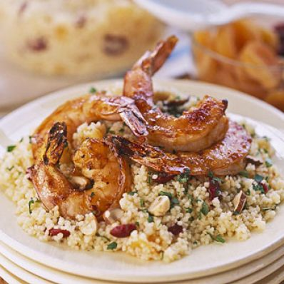 Apricot Shrimp with Fruity Couscous