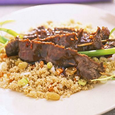 Maple-Glazed Beef With Spiced Couscous