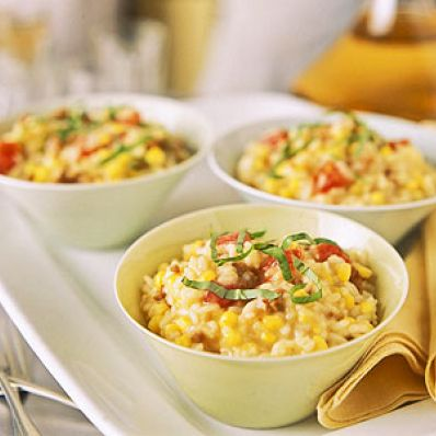 Sausage And Corn Risotto