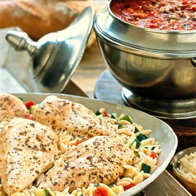 Zesty Chicken With Orzo