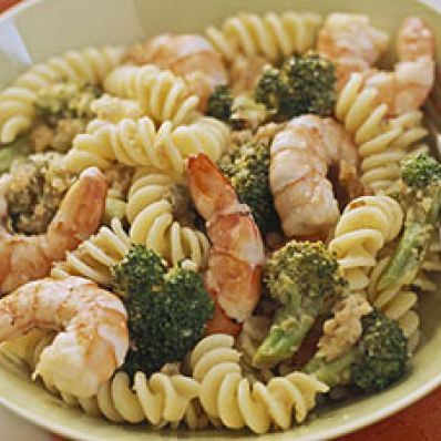 Broccoli-Shrimp Scampi