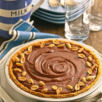 Silky Chocolate Peanut-Butter Pie