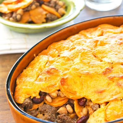 Sweet Potato and Bean Casserole