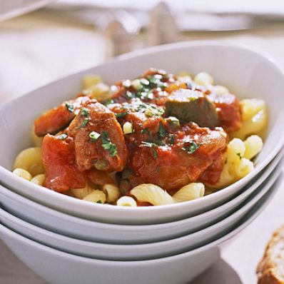 Cavatappi And Chicken Cacciatore
