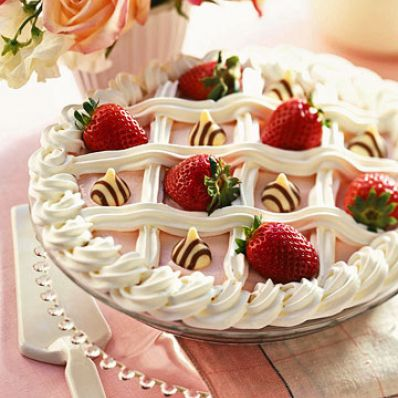 Checkerboard Strawberry Pie