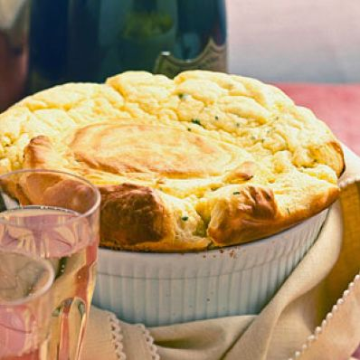 Cheddar-Chive Souffle