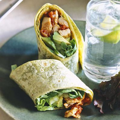 Chicken-Tomato Wraps