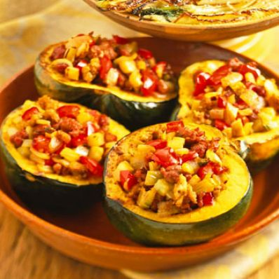 Roast Stuffed Squash and Fennel
