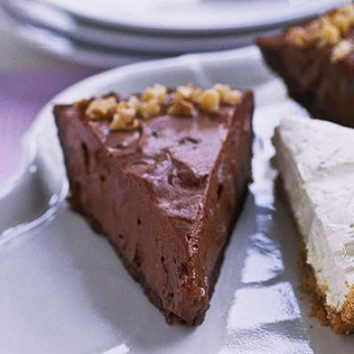 Chocolate Pear Silk Pie