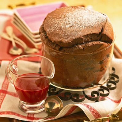Chocolate-Raspeberry Souffle