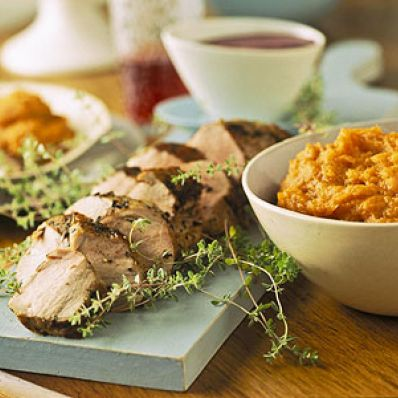 Pork Tenderloin With Mashed Sweet Potatoes