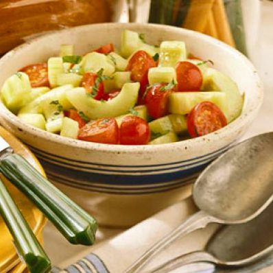 Cucumber, Tomatoes And Mint