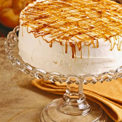 Caramel-Drizzle White Cake