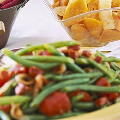 Green Beans with Tomato and Chorizo