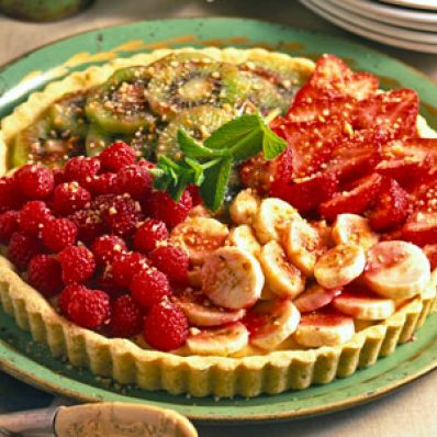 Hazelnut Fruit Tart